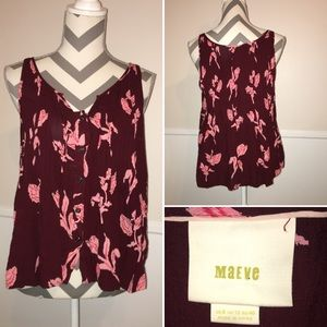 MAEVE | Anthropologie | Button up tank